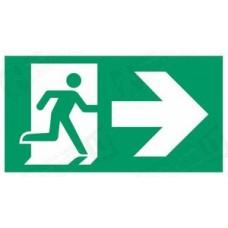 Evakuacinis išėjimas į dešinę su rodykle