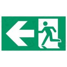 Evakuacinis išėjimas į kairę su rodykle