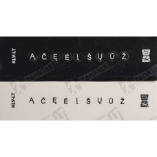 Lietuviškos raidės-kompiuterio klaviatūrai ĄČĘĖĮŠŲŪŽ