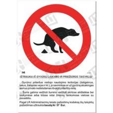 Vedžioti šunis draudžiama