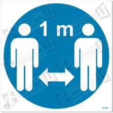 Laikytis saugaus ne mažesnio kaip 1 metro atstumo
