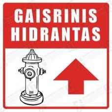 Gaisrinis hidrantas su rodykle tiesiai