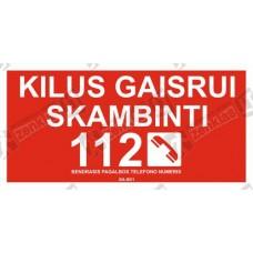 Kilus gaisrui skambinti 112 arba ( )