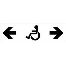 Krypties rodyklė WC naudotis žmonėms su negalia (invalidams)