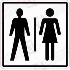 Sanitarinio mazgo (WC) simbolis - vyras, moteris
