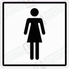 Sanitarinio mazgo (WC) simbolis: moteris, mergaitė