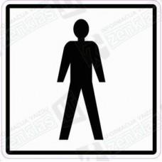 Sanitarinio mazgo (WC) simbolis - vyras, berniukas