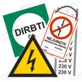 Elektrosaugos ženklai