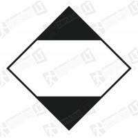 Pakuočių ženklas, kuriose yra ribotais kiekiais supakuotų pavojingų krovinių. (100 vnt.)
