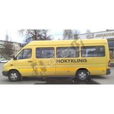 """Užrašas """"MOKYKLINIS"""" mokyklinio autobuso ženklinimui"""